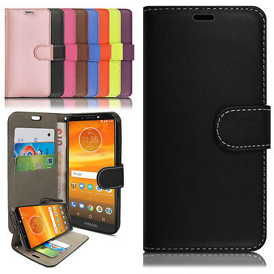 Luxury Magnetic Leather Wallet Flip Case Cover Motorola Moto G5 Plus G6 E5 Play