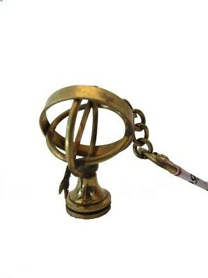 Brass ASTROLABE  Key Chain- Collectible Marine Nautical Key Ring (1186)