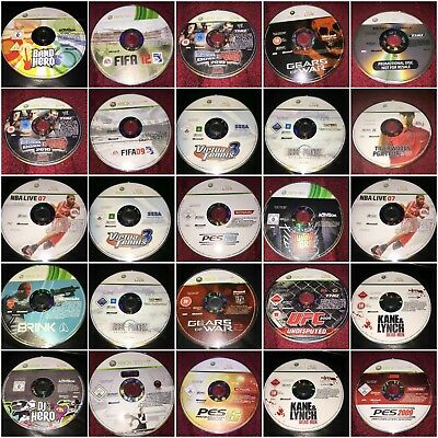xbox 360 discs only no cases select the games you want from the list