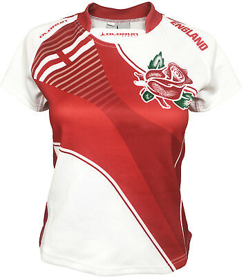 Olorun England Home Nations Ladies Supporters Exofit Rugby Shirt 08-20