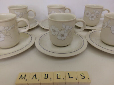 HORNSEA ~BOUQUET~ coffee cups cans & saucers x 6