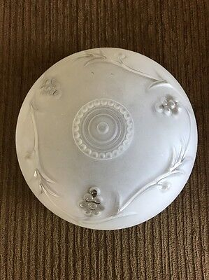 Vintage Frosted Glass Grape Vine And Grape Bunch Ceiling Light Shade Globe Cover
