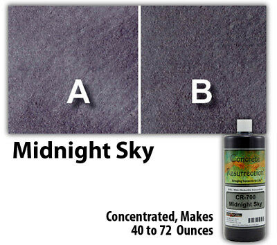 Professional Easy to Apply Water Based Concrete Stain Midnight Sky 8oz Bottle
