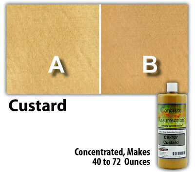 Professional Easy to Apply Water Based Concrete Stain Custard 8oz Bottle
