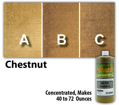 Professional Easy to Apply Water Based Concrete Stain Chestnut 8oz Bottle