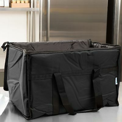 Insulated BLACK Catering Delivery Food Full Pan Carrier Hot Cold Cooler Bag NEW