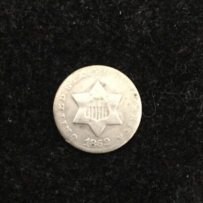 1852 3CS Three Cent Silver  #