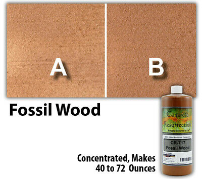 Professional Easy to Apply Water Based Concrete Stain Fossil Wood 8oz