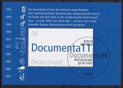 BRD 2002 gestempelt ESST Berlin Block MiNr. 58  11. documenta