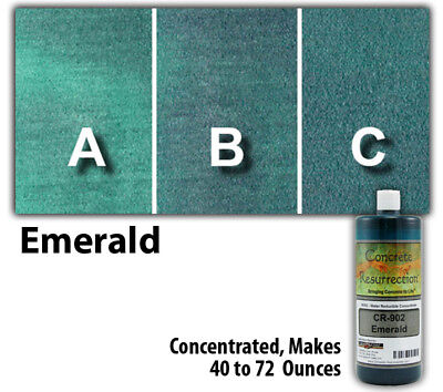 Professional Easy to Apply Water Based Concrete Stain Emerald 8oz