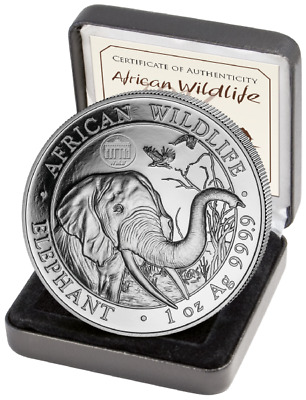 2018 Berlin WMF Privy Somalia 1oz Silver Elephant 1000 Mintage SOLD OUT at Mint!