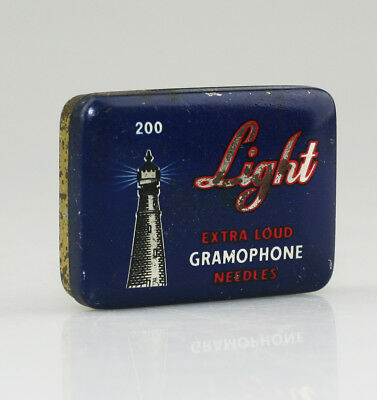 LIGHT 'Extra Loud' Gramophone Needle Tin (SZ83)