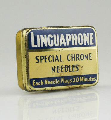 LINGUAPHONE 'Special Chrome Needles' Gramophone Needle Tin - Scarce (SZ85)
