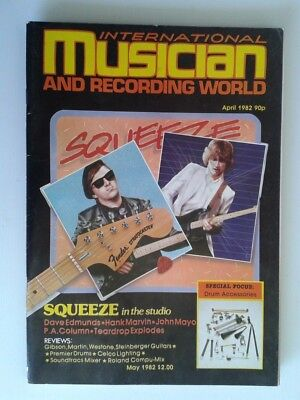 INTERNATIONAL MUSICIAN AND RECORDING WORLD Apr 1982 Squeeze Dave Edmunds ++