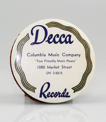 DECCA Vintage Gramophone Record Cleaner / Duster - SCARCE (SZ96)