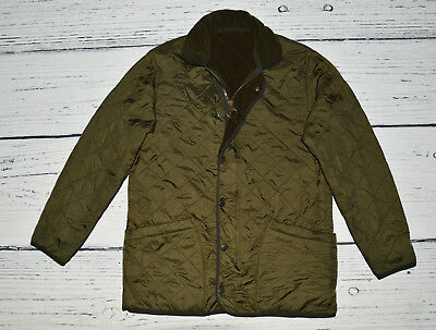 BARBOUR D310 Men's Olive Polarquilt Long Quilted Jacket !  size S