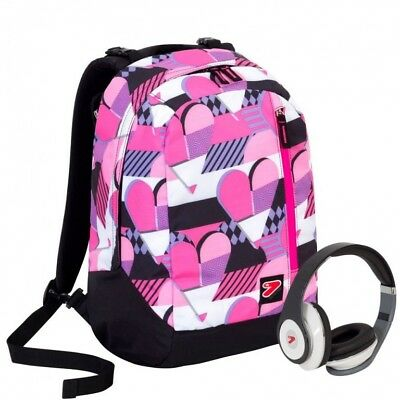 Zaino Seven The Double Pinky Hearts Con Cuffie Stereo