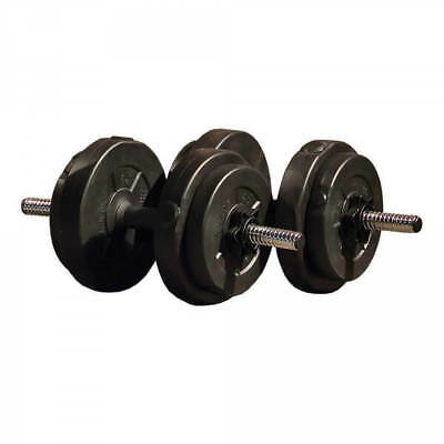 Iron Gym 15kg Adjustable Dumbbell Set with Weight Plates & Spinlock Collars