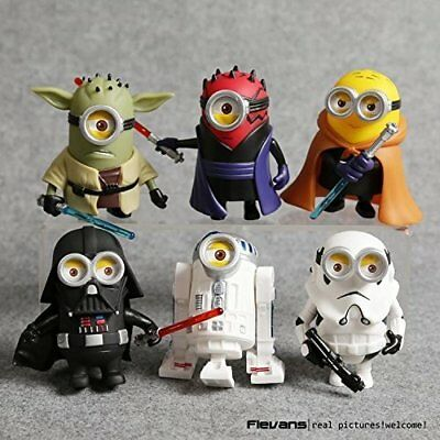 10cm 6pcs/lot Q Style Star War Minions Cosplay Action Figures Cake Toppers Toys