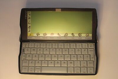 SLIGHTLY USED Vintage Psion Revo 8MB Palmtop Computer / PDA:  Complete Boxed Set