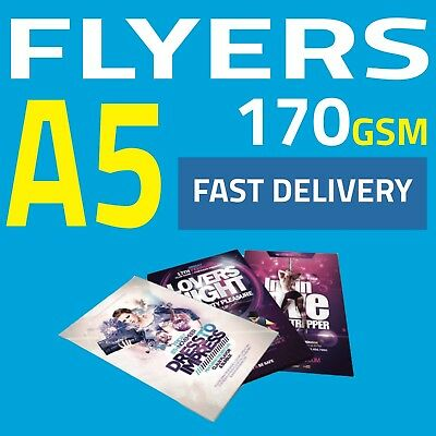 A5 Flyer Printing 170gsm, Full Colour, Single/Double Sided, Fast Delivery