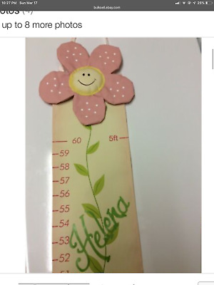 Adorable Personalized Little Girl Growth Chart
