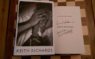Life EXCLUSIVE SIGNED Keith Richards HB Autobiography 1st edition 1st Impression