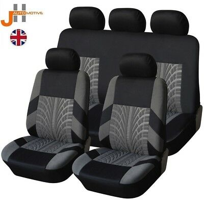 HD BLACK & GREY TRAX SEAT COVER SET FOR DACIA Logan 1.5 dCi Ambiance 5d 2016