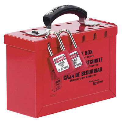 Master Lock 498A Lockout Tagout Latch Tight Portable Group Lock Box