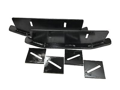 NEW Masco Skids (SET) DOUBLE ROW with Plates....Drag Shoes FREE SHIPPING