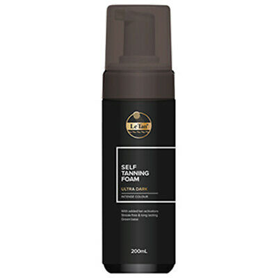 NEW Le Tan Self Tanning Foam Ultra Dark 200ml