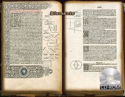 "Elementa - Euclid's ""Elements"" 1482 AD 1st Edition Latin Illumination Incunabula"