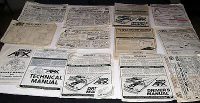 BIG Lot of Vintage 1970s Aurora AFX Model Motoring HO Slot Car Paperwork.