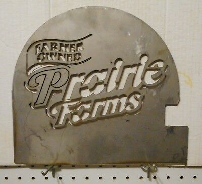 "1/8 X 11 X 12 Stainless Steel Sign ""farmer Owned Prairie Farms""dairy"