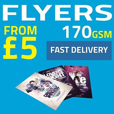 Flyer Printing 170gsm, Full Colour, Fast Delivery, A6 / A5 / A4 / A3 FROM £5.00!