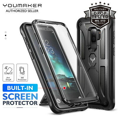 YOUMAKER® Samsung Galaxy S9 S9 Plus HEAVY DUTY Shockproof KickStand Case Cover