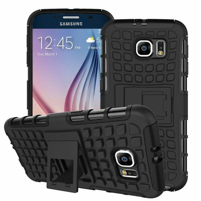 Heavy Duty Gorilla Shock Proof kick Stand Case Cover for Samsung S8 (BLACK)