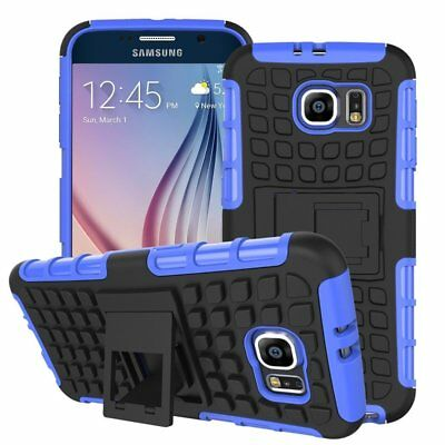 Heavy Duty Gorilla Shock Proof kick Stand Case Cover for Samsung S8 (BLUE)