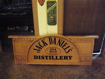 Large Jack Daniels Distillery Advertising Wood Sign From Display Rack RARE PIECE
