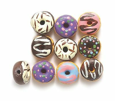 Shipwreck Peruvian Hand Crafted Ceramic Tiny Donut Beads, 10mm, Assorted, 10 ...