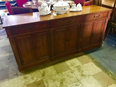 Vintage American Of Martinsville 3 Drawer Farmhouse Style Sideboard