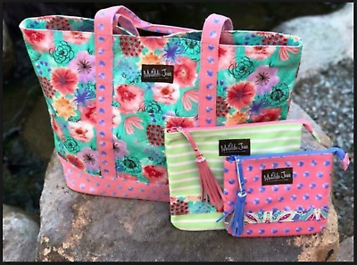 Matilda Jane Tote-Ally Perfect Bag Set w/ Pouches NWT - New In Bag Free Shipping