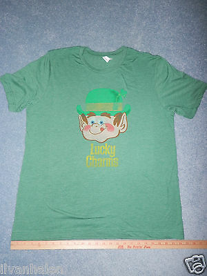Lucky Charms Adult XL Green T-shirt General Mills cereal Target GM Tee Retro