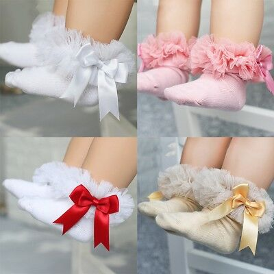 Cute Baby Girl NewBorn Princess Lace Flowers Infant Toddler Soft Cotton Socks JA