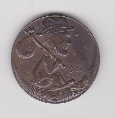 Hobo Nickel Style - 1909 Hobo Penny - Novelty Coin Cent  ** $5 SALE **