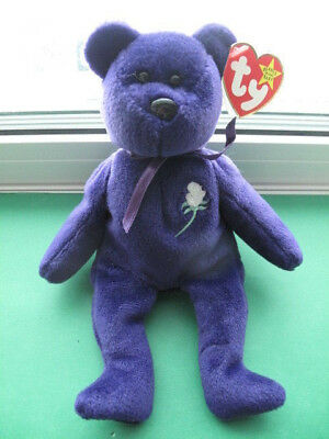 """TY BEANIE BABIES: """"PRINCESS DIANA"""" * RETIRED * TAGS ATTACHED (all fiber & P.E.)"""
