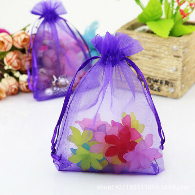 50x Organza Bag Sheer Bags Jewellery Wedding Candy Packaging Beads Gift 18x13cm