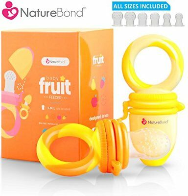 Baby Food Feeder / Fruit Pacifier 2 PCs  Infant Teething Toy Teether