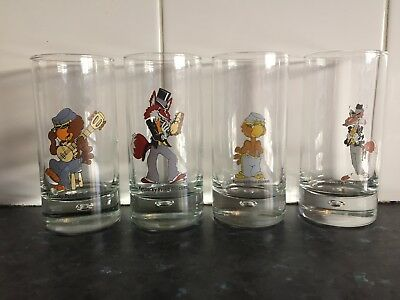 4 Vintage  Kentucky Fried Chicken Kfc Glasses Chicken Hawk & Sly Fox Collectible
