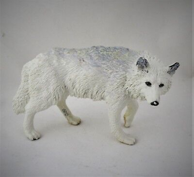 """SNOW WOLF""  Miniature Wolf Figurine"